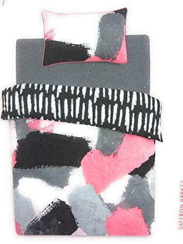 Funda Nordica Primark Medidas.Primark Home Saffron Barker Saffy B Single Double Kingsize Reversible Duvet Cover Set Painted Black White Single 135cm X 200cm
