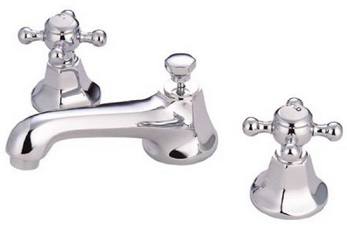 Kingston Brass KS4461BX Metropolitan Widespread Lavatory Faucet with Metal Cross Handle, Polished Chrome
