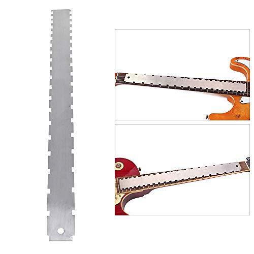 Cuello de guitarra, borde recto, muesca, herramienta luthier para la mayoría de...
