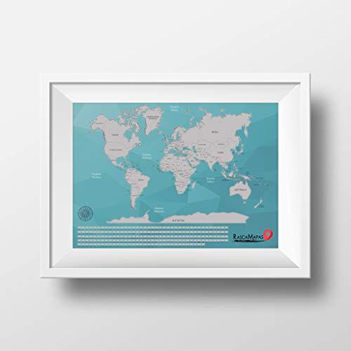 vinilo mapa mundi pared fabricante Rasca Mapas