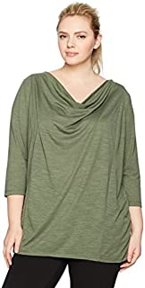 Fruit of the Loom Fit for Me Womens 12709P Active Drapey Tunic Tee Long Sleeve Shirt - - 2X