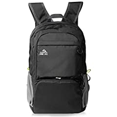 Idea Regalo - Cobiz Ultralight Packable Camping Zaino Escursionismo Daypack, 30L Pack Handy Pieghevole Laptop Travel Outdoor Zaino per Donna Uomo Bambini (A-Nero)