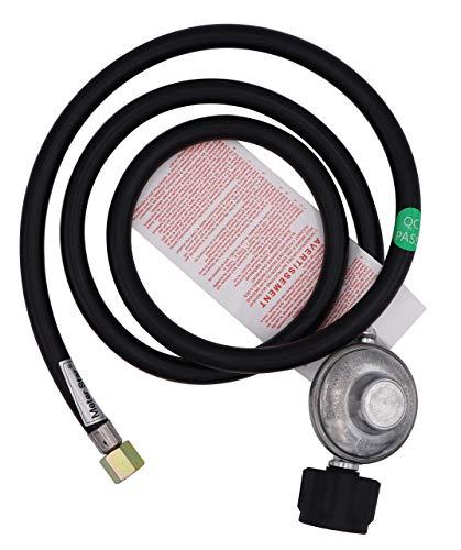CSA zertifizierter 2 Meter Niederdruck-Propanregler und Schlauch QCC1 Anschlussset für LP/LPG Gasgrill