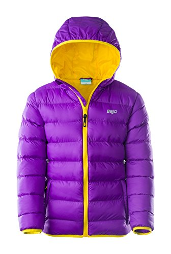 BEJO Niños Kelis Kids Padded Jacket, Infantil, Kelis Kids, Amaranth Purple/Bright Yellow, 122