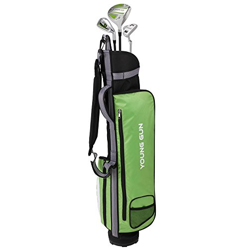 Young Gun ZAAP Eagle Green Junior Golf Club Youth Set & Bag for Kids Ages 12-14