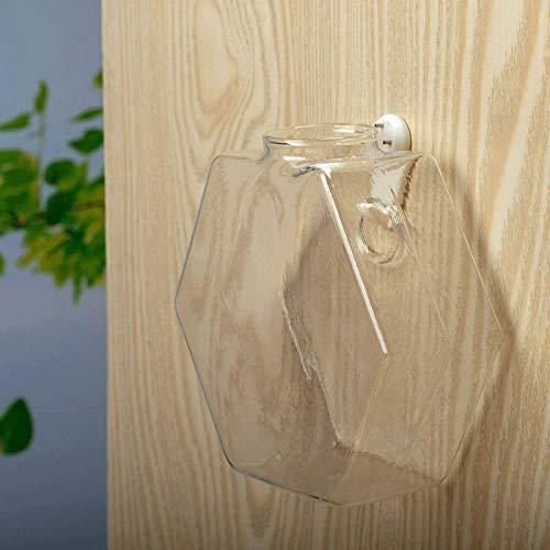 Vase Einzigartiger Hängender Blumentopf Klarglas-Kugelvase Hydroponic Terrarium Wand Aquarium Topfpflanze Blumenflasche Dekor Aquarium M15X16