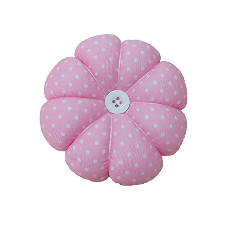 Besplore Upgrade Pin Cushion Polka Pumpkin Wrist Pin Cushions Wearable Needle Pincushions,Pink