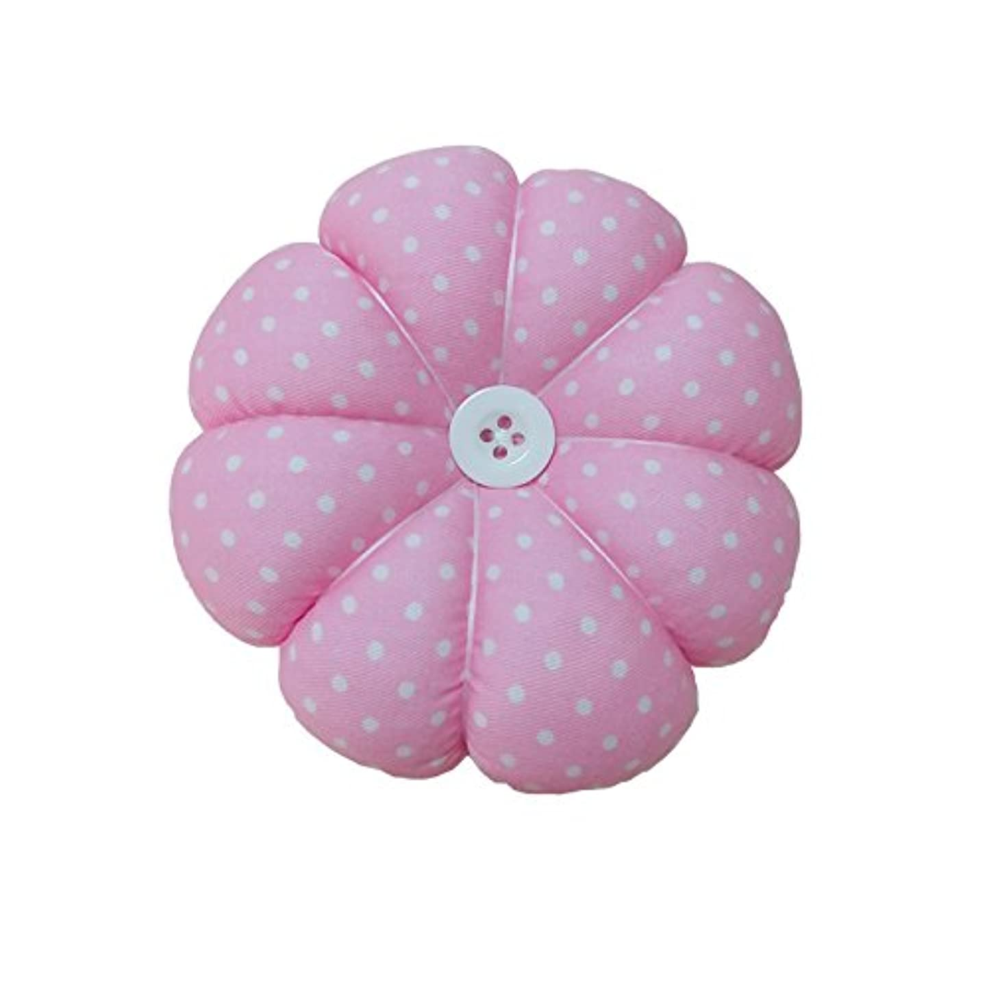 Besplore Upgrade Pin Cushion Polka Pumpkin Wrist Pin Cushions Wearable Needle Pincushions,Pink