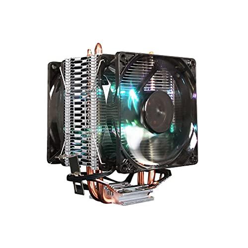 WYH PC Cooler CPU Air Cooler Multi Compatible Dual Tower CPU Cooler 4 Contactos Directos Heatpipes Dual 120mm PWM Control inteligente Ventilador silencioso