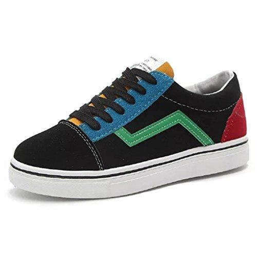 Minetom Sneakers Mujer Casuales Hombres Unisex Plataforma Zapatos Cómodos Couple Bloque De Color Alpargatas Verde EU 44