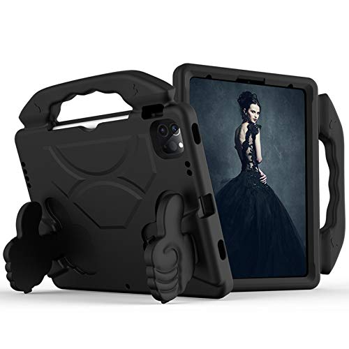 Case for iPad Pro 11 2020/2018, Light Weight Shockproof Kids Friendly Protective Cover with Pencil Holder, Rugged Protective Case for iPad Pro 11 inch 2020 2nd Gen/2018 1st Gen ( Color : Black )