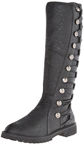 Funtasma Men's Gotham-109, Black Distressed Polyurethane, Large/12-13 M US
