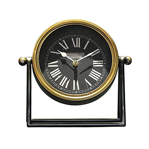 hkwshop Reloj de Escritorio Reloj Reloj Americano Retro Reloj Reloj de Escritorio Adornos TV gabinete Escritorio Antiguo Reloj casa Sala de Estar Escritorio Reloj de Mesa