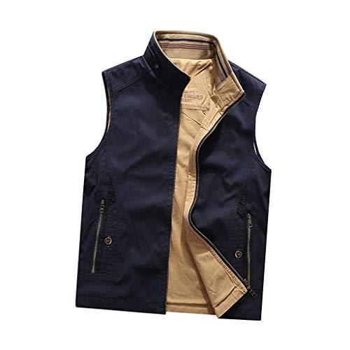 THBEIBEI Vest Mens Waistcoat Beide kanten kunnen dragen Outdoor Vissen Vest Ademende Gilets Draagbaar In Alle seizoenen Jas Voor Jacht Camping Fotografie