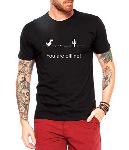 Camiseta Masculina You Are Offline Nerd Geek Tumblr (M, Preta)