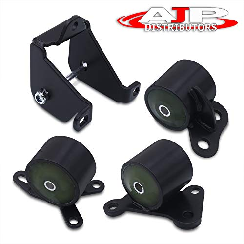 AJP Distributors Steel Motor Mount Poly Bushing Bracket Swap Kit For Honda Civic Ej Em B16 B18 B20 B Series Engine
