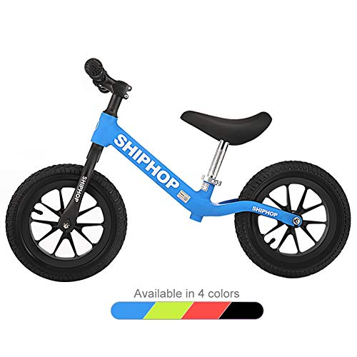 LXLA Safety Lightweight Balance Bike with Air Tires and Adjustable Seat, No Pedal Walking Bicycle for Kids Age 2-6 Year Old Boys and Girls, Best Birthday Gift (Color : Blue)