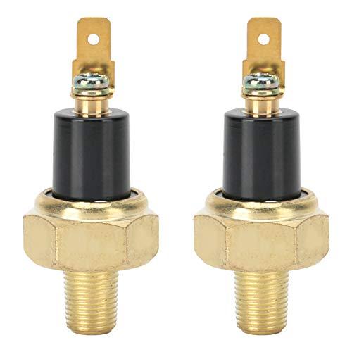Sensor de interruptor de presión de aceite de 2 uds, Ajuste de alarma para generador diésel refrigerado por aire 178F/186F 3KW-5KW