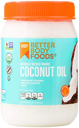 BetterBody Foods Organic Naturally Refined Coconut Oil, 15.5 Ounce