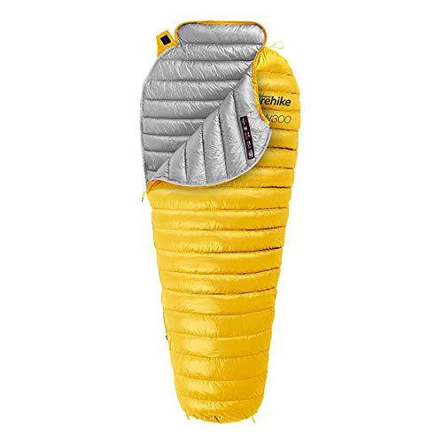 ZHANGDAN Mumienschlafsack mit Kompressionssack, tragbarem und leichtem 0-Grad-Schlafsack für Camping, Wandern, Reisen, Rucksacktouren und Outdoor,Yellow