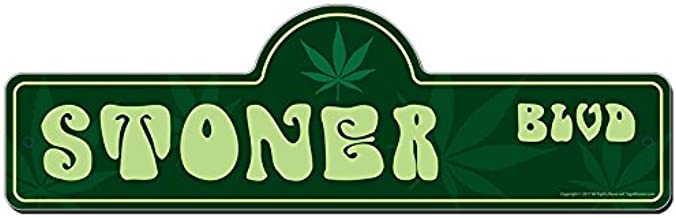 Stoner Street Sign | Indoor/Outdoor | Funny Home Décor for Garages, Living Rooms, Bedroom, Offices | SignMission personalized gift