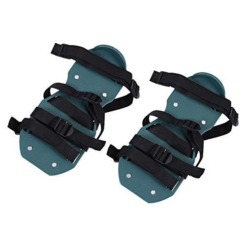 HERCHR Zapatos de aireador de césped 1 par de Zapatos de aireador de rastrillo nivelador de césped Esparcidor de Suelo de césped Zapatos con Pinchos de aireador de aflojamiento(4 Vendaje)