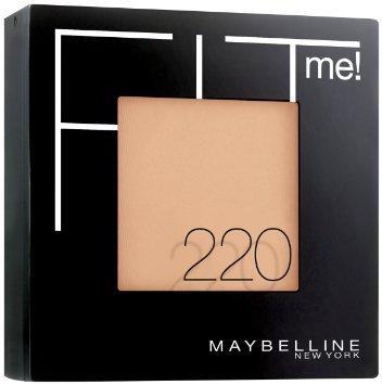 Maybelline New York Fit Me! Powder Puder Farbe: 220 Mittlerer Hautton Inhalt: 9g Der Puder matiert und fixiert das Make Up. Powder Puder