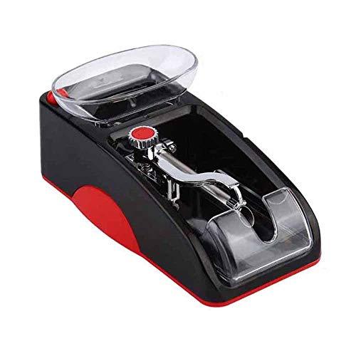 Z-LIFE Mini fabricante de cigarrillos eléctrico, portátil, máquina automática de cigarrillos de rodillo para hombre, el mejor regalo del padre para tabaco (color: rojo)