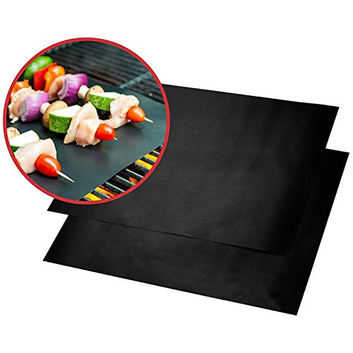 anruo 1pcs Reuseable Non-stick Mat Pan Fry Liner Sheet Cooking Wok Sheet Pad Kitchen BBQ Baking Mats 30x40cm Cooking Tool BBQ