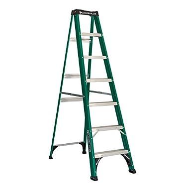 Louisville Ladder FS4007 225-Pound Duty Rating Fiberglass Step Ladder, 7-Foot
