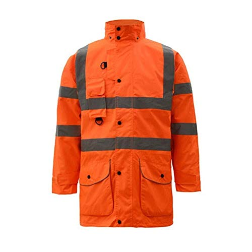 Hcxbb-a Hi Vis veiligheidsjas - Reflecterende katoenen kleding werkkleding Road Traffic Safety Wear Fluorescerende Outdoor Wear