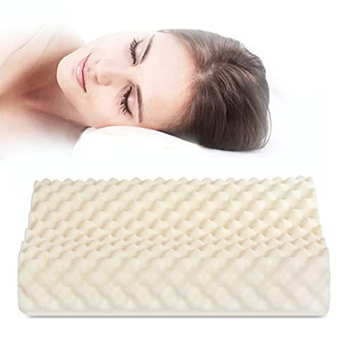 Latex Contour Pillow Relax Neck Pain Ergonomic Latex Bed Pillow Massage Particle Sleeping Pillow