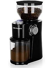 Orbegozo MO 3400 - Molinillo de café, 2-12 tazas, sistema de muelas, capacidad tolva 240 g, capacidad depósito 95 g, libre de BPA, 200 W