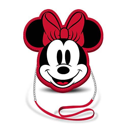 Karactermania Diseny Icons Minnie Maus-Slim Kette Schultertasche Umhängetasche, 20 cm, Red