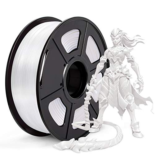 JAYO PLA 3D Printer Filament, PLA Filament 1.75mm, Dimensional Accuracy +/- 0.02 mm, 1kg Spool (2.2 lbs), PLA White