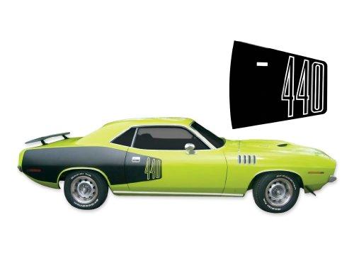 Phoenix Graphix 1971 Plymouth Barracuda 'Cuda 440 Decals & Billboard Stripes Kit - Black