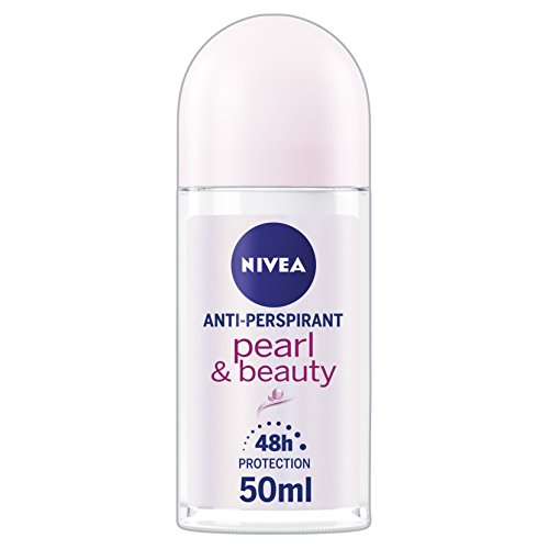 NIVEA Anti-Perspirant Deodorant Roll-On, Pearl & Beauty, 48 Hours Deo, 50 ml, Pack of 6