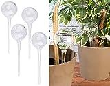 Royal Gardineer Bewässerungskugel: 4er-Set Gießfrei-Bewässerungs-Kugeln aus Glas, transparent, Ø...