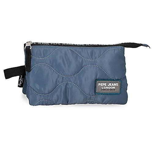 Pepe Jeans Orson Estuche Triple Azul 22x12x5 cms Poliéster
