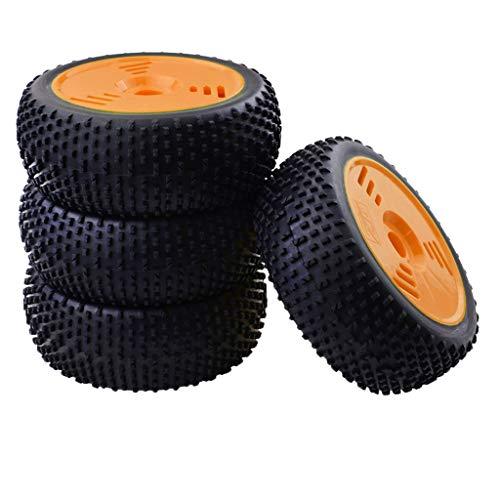 freneci Neumáticos Y Ruedas de Goma para Buggy Eléctrico O Nitro RC 1: 8 (4 Piezas) - Naranja