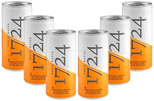 1724 Tonic Water - Barattolo con deposito monouso, 6 x 200 ml = 1200 ml