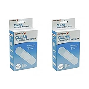Masterplast Clear Assorted plasters x 2 Pack - 200 in Total