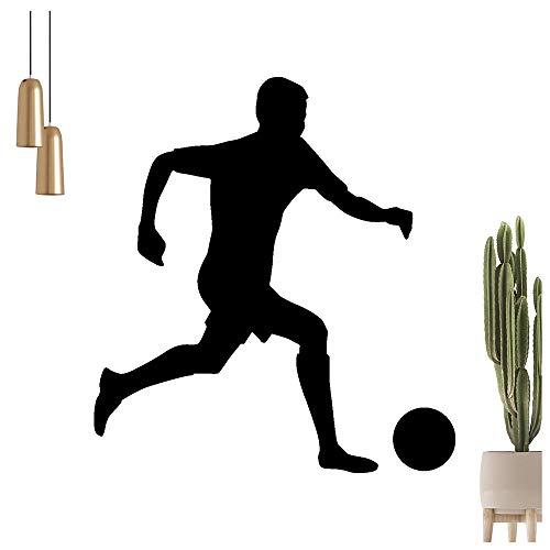 Kiwistar - Adhesivo decorativo para pared, diseño de jugador de fútbol