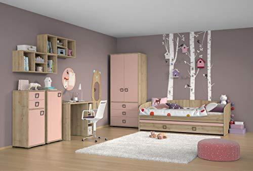 Kinderzimmer Komplett - Set U Benjamin, 8-teilig, Farbe: Buche/Rosa