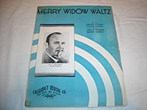THE MERRY WIDOW FRANZ LEHAR 1908 SHEET MUSIC SHEET MUSIC 224