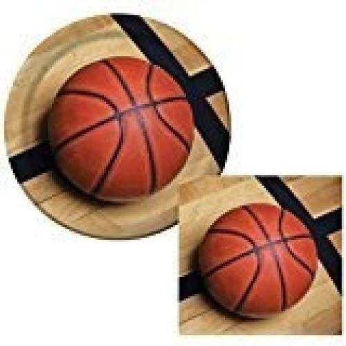 Sports Fanatic Basketball Bundle 22,9cm Teller (16) Lunch-Servietten (18)