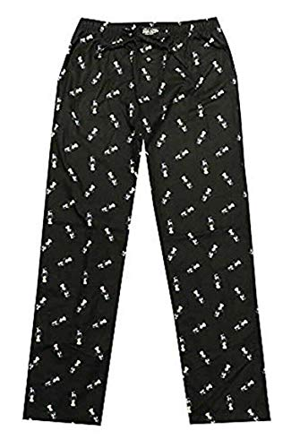 Polo Ralph Lauren Mens Bear Flannel Pajama Sleep Pants (M, Black/Bear)