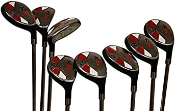 Senior Men's Majek Golf All Hybrid Complete Full Set, which Includes: #3, 4, 5, 6, 7, 8, 9, PW Senior Flex with Tacki-Mac Jumbo Soft Wrap Grips Right Handed Clubs
