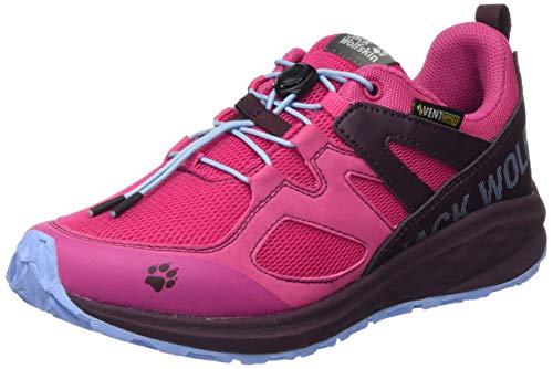 Jack Wolfskin Unisex-Kinder Unleash 2 Speed Vent Low K Cross-Trainer, Pink (Pink/Burgundy 2088), 38 EU