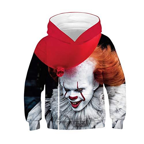 jkuiumnj256 Unisex Hooded Sweatshirts 3D Joker Duck Kind Jungen Mädchen Kapuzenpullover Für Teenager Herbst Kleidung (Joker,L?145-150cm?)